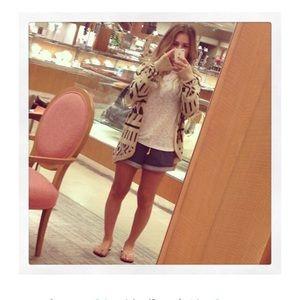 Jessie James Decker Geo Sweater Cardigan *small*
